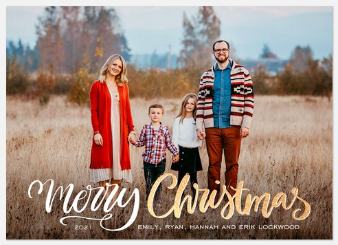 Beautiful Sparkle Holiday Photo Cards