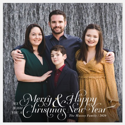 Fanciful Tradition Holiday Photo Cards