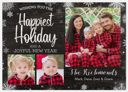 Winter Day Holiday Photo Cards