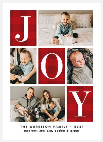 Joy Quilt Holiday Photo Cards