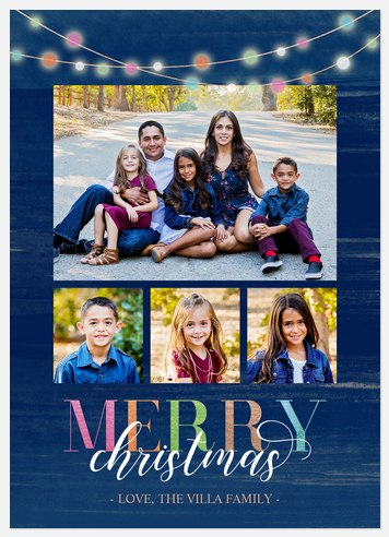 Colorful Lights Holiday Photo Cards