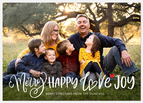 Merry & Happy Holiday Photo Cards