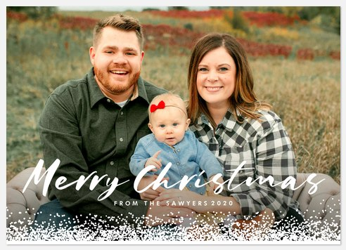 Frosted Edge Holiday Photo Cards