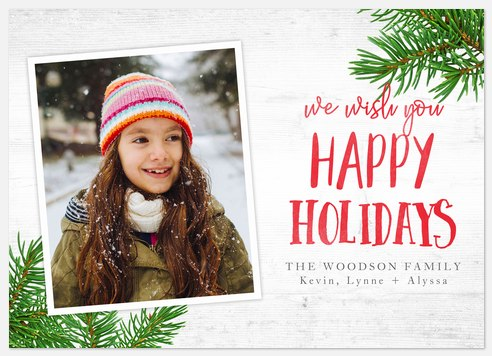 Tree Sprigs Holiday Photo Cards