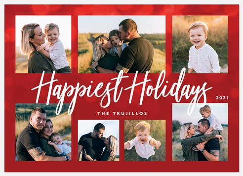 Family Sparkle Holiday Photo Cards
