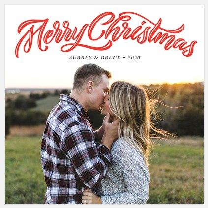 Flourished Engraving Holiday Photo Cards