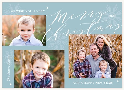 Winter Collage Personalized Holiday Cards