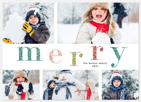 Candy Colored Holiday Photo Cards