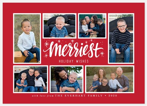 Festive Collage Holiday Photo Cards
