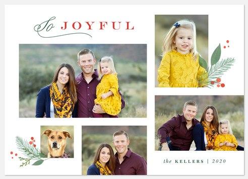 Joyfully Modern Holiday Photo Cards