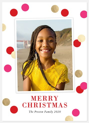Playful Dots Holiday Photo Cards