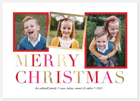 Merriment Collage Holiday Photo Cards
