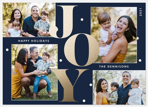 Overjoyed Holiday Photo Cards