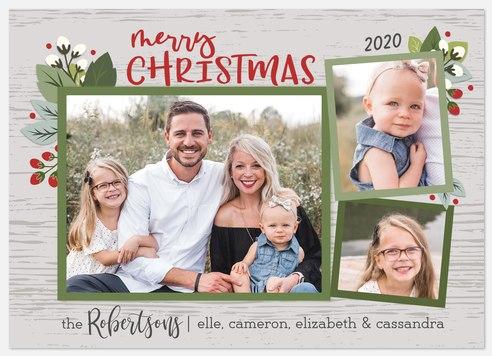 Bountiful Trio Holiday Photo Cards