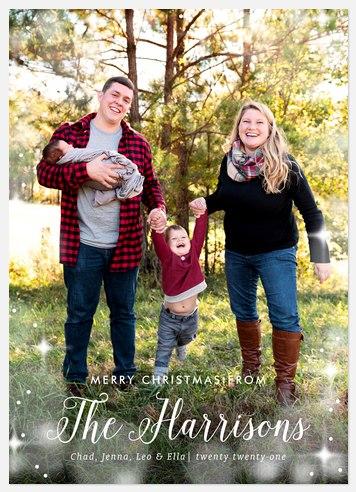 Bokeh Family Holiday Photo Cards