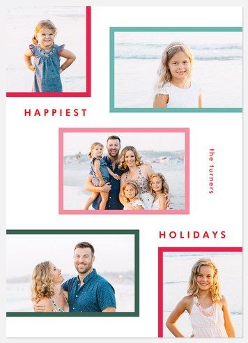 Candy Frames Holiday Photo Cards