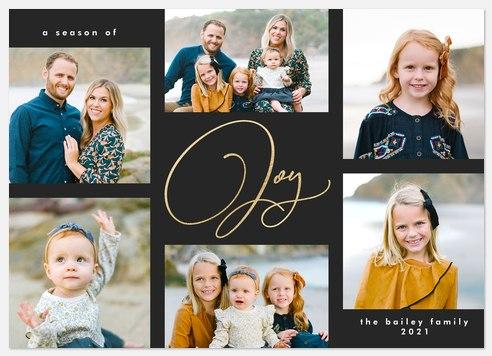 Effortless Joy Holiday Photo Cards