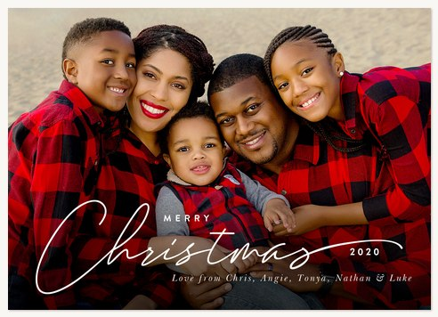 Scripted Sentiments Photo Holiday Cards