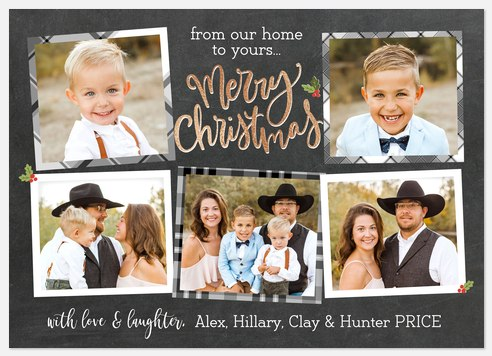 Chalk Collage Holiday Photo Cards