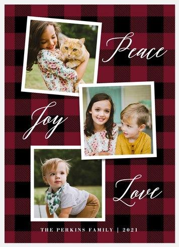 Plaid Snapshots Holiday Photo Cards