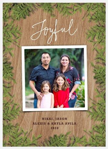 Evergreen Keepsake Holiday Photo Cards