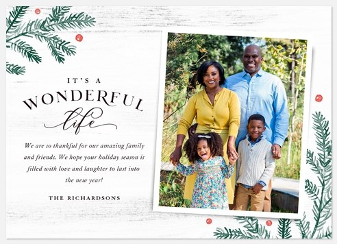 Rustic Wonder Holiday Photo Cards