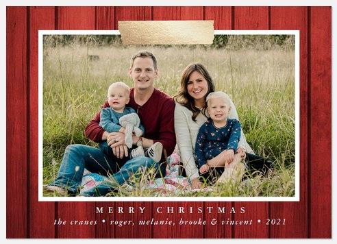 Washi Barnwood Holiday Photo Cards