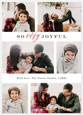 Oh So Modern Holiday Photo Cards