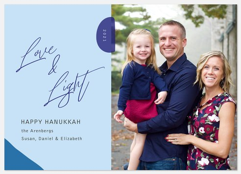Modern Geo Hanukkah Photo Cards