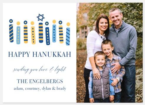 Hanukkah Candles Hanukkah Photo Cards