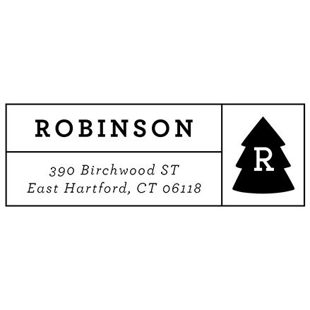 Evergreen Monogram | Custom Rubber Stamps