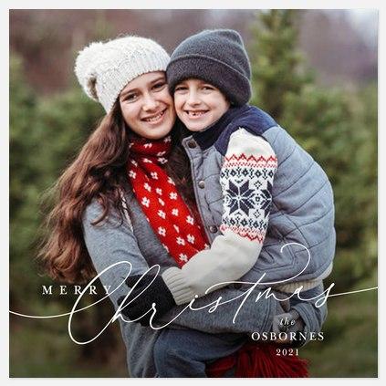 Elegant Wishes Holiday Photo Cards