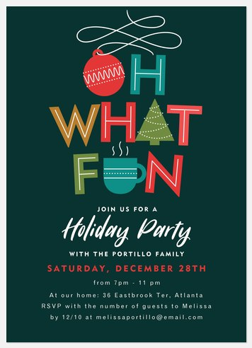 Iconic Fun Holiday Party Invitations