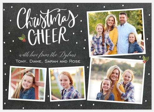 Chalkboard Cheer Holiday Photo Cards