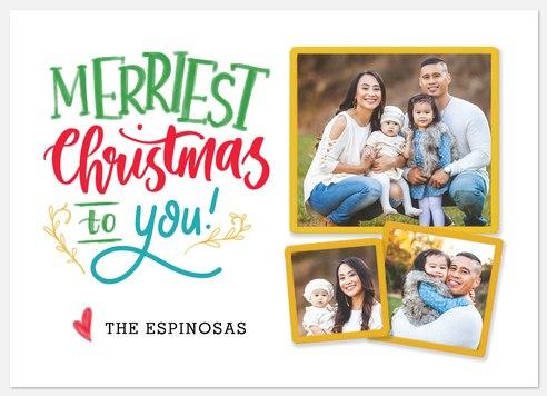 Festive Scrapbook Holiday Photo Cards