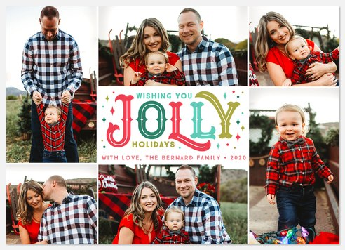 Vintage Jolly Holiday Photo Cards