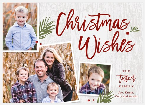 Woodland Whimsy Holiday Photo Cards