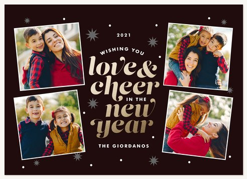 Lovely Cheer Personalized Holiday Cards