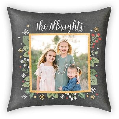 Slate Foliage Custom Pillows