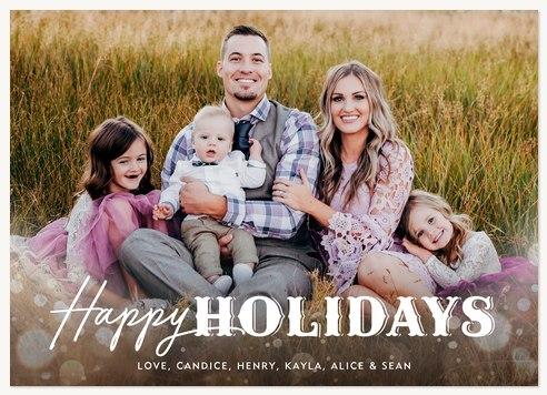 Magical Bokeh Photo Holiday Cards