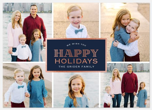 Vintage Placard Holiday Photo Cards