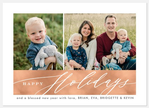 Modern Duo Holiday Photo Cards