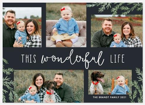 Wonderful Cedar Holiday Photo Cards