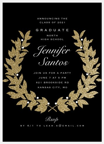 Glitterati Wreath Graduation Cards