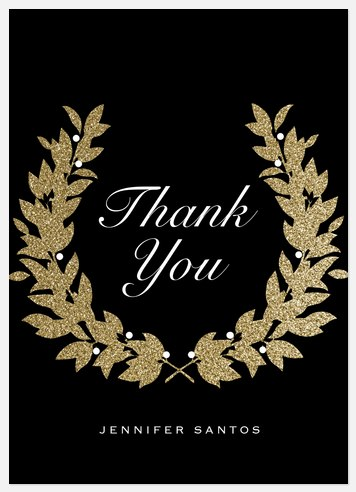 Glitterati Wreath Thank You Cards