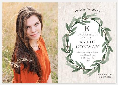 Rustic Wreath Graduation Cards