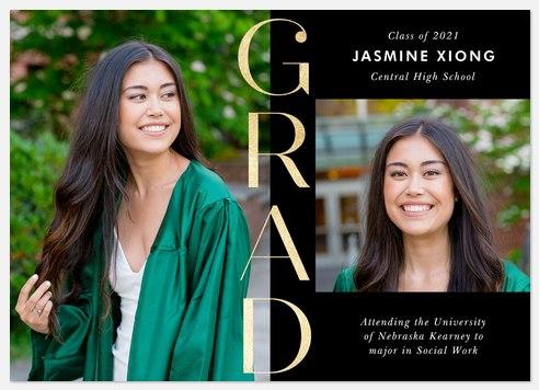 Gilded Grad Graduation Cards