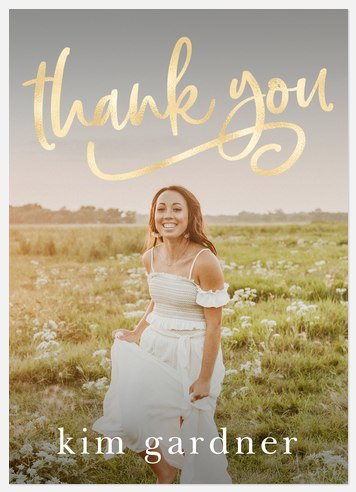 Luxe Graduate Thank You Cards