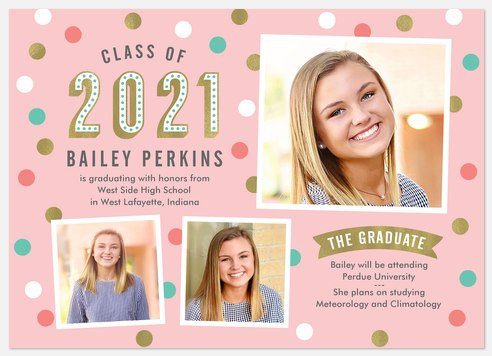 Confetti Pop Graduation Cards
