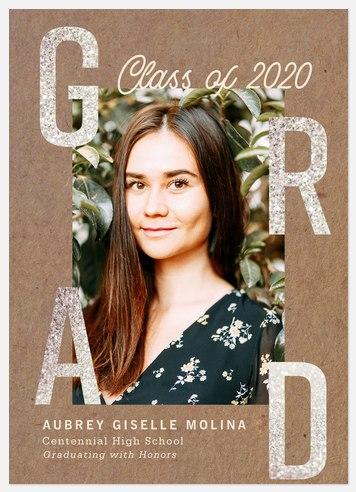 Diamond Glitter Graduation Cards